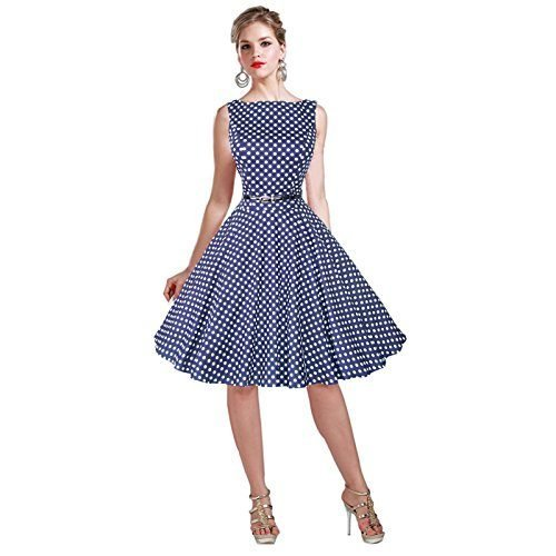 257919ba583 Maggie Tang 50s 60s Vintage Cocktail Retro Swing Rockabilly Full Circle  Dress