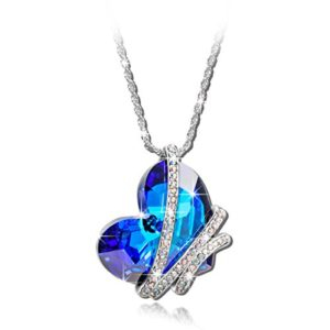 Qianse-Heart-of-the-Ocean-White-Gold-Plated-Pendant-Made-with-Blue-Heart-Shape-Swarovski-Elements-Crystal-0