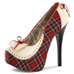 Cream-and-Red-Plaid-Penny-Loafer-Style-Platform-Pumps-with-575-Inch-Heels-0