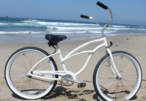 Firmstrong Urban Lady Alloy Single Speed Beach Cruiser Bicycle, 26-Inch, White