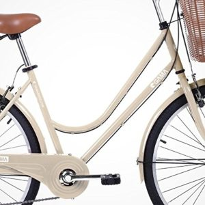 Gama-Bikes-Womens-City-Basic-Step-Thru-6-Speed-Shimano-Hybrid-Urban-Cruiser-Commuter-Road-Bicycle-26-inch-wheels-0