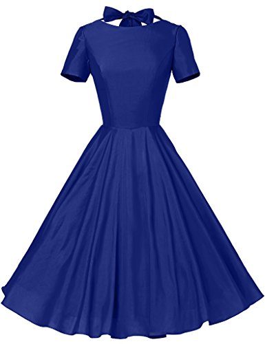 GownTown Womens 1950s Vintage Retro Party Swing Dress Rockabillty ...