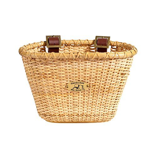 Nantucket Bicycle Basket Co. Lightship Collection Children's Bicycle Basket, Oval, Natural