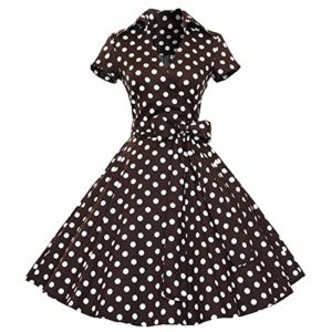Samtree-Womens-Retro-1950s-Short-Sleeves-Swing-Rockabilly-Ball-Party-Dress-0