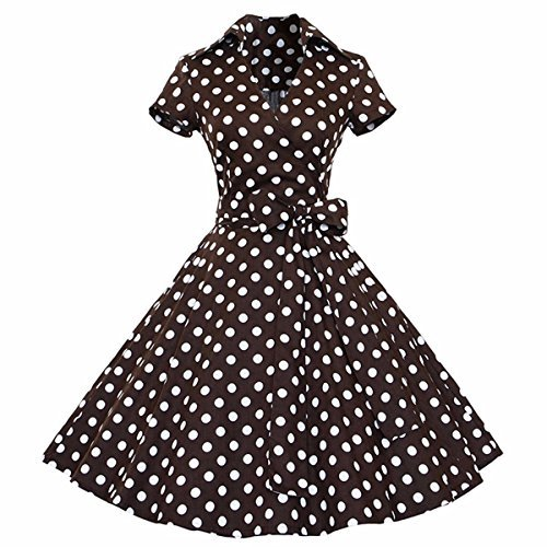 03df7a796cd501 Samtree Womens Polka Dot Dresses