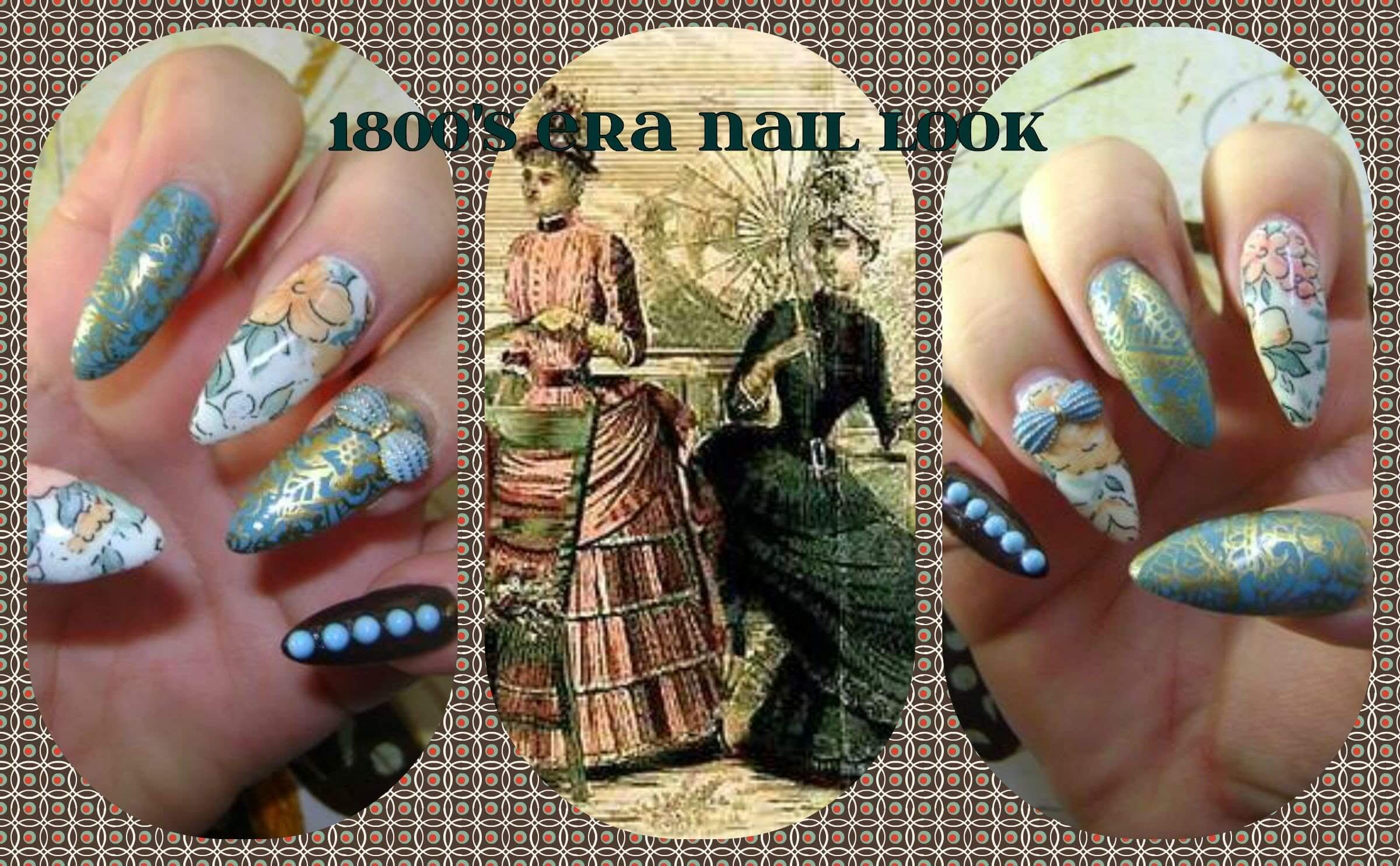 Video: 1800'S ERA NAIL LOOK & HOW TO VIDEO! (VINTAGE STYLE)