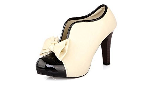 LATHPIN Classic Vintage Womens Pumps High Heels Ankle Boots Party Bridal Wedding