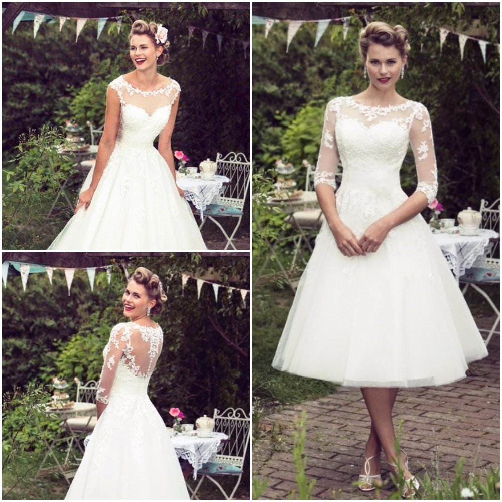 Vintage Inspired Wedding Dresses in 50s